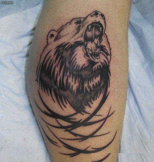 tribal black bear tattoos designs 600 631 bear pinterest black bear tattoo. Black Bedroom Furniture Sets. Home Design Ideas