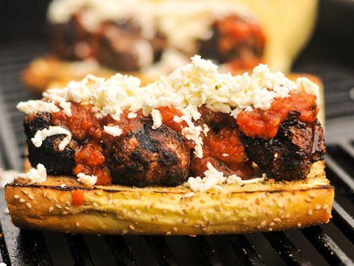Grilled Meatball Parmesan Hero | Serious Eats : Recipes