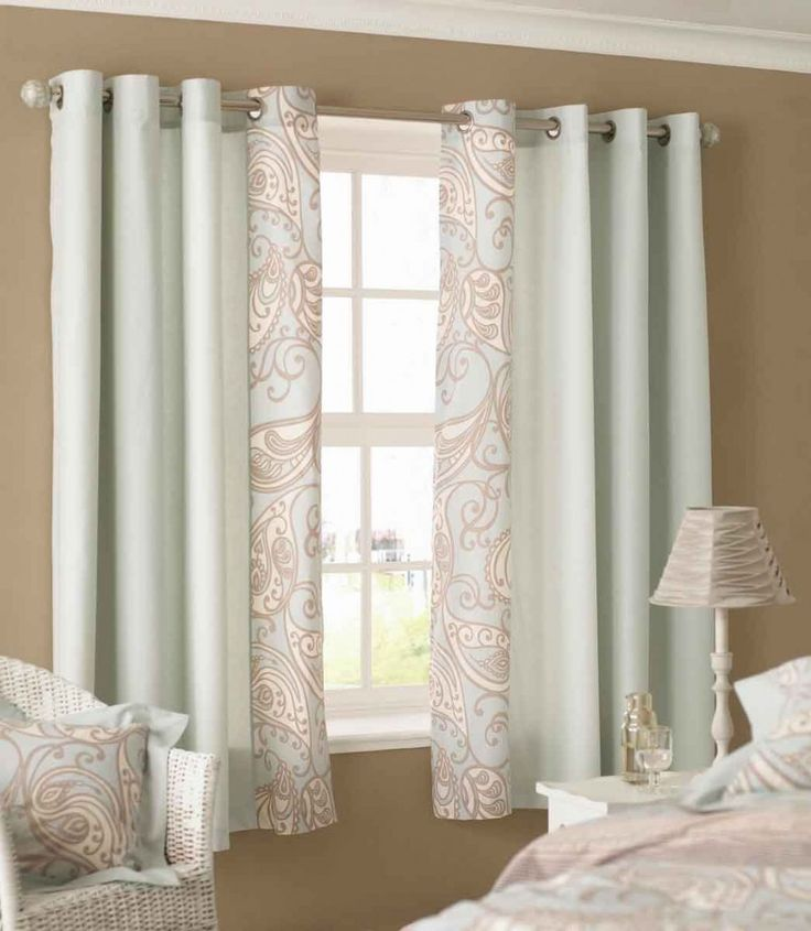 Amazing Sky Blue Color Scheme Bedroom Curtains With White Wood Materials Window Frame Design Also Beautiful Side Space Flower Pattern Curtains Decoration Perfect Ornament Decoration Of Bedroom Curtains Furniture