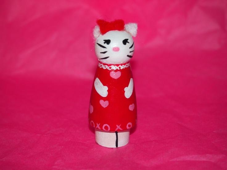 Hello Kitty OOAK. $7.00, via Etsy.
