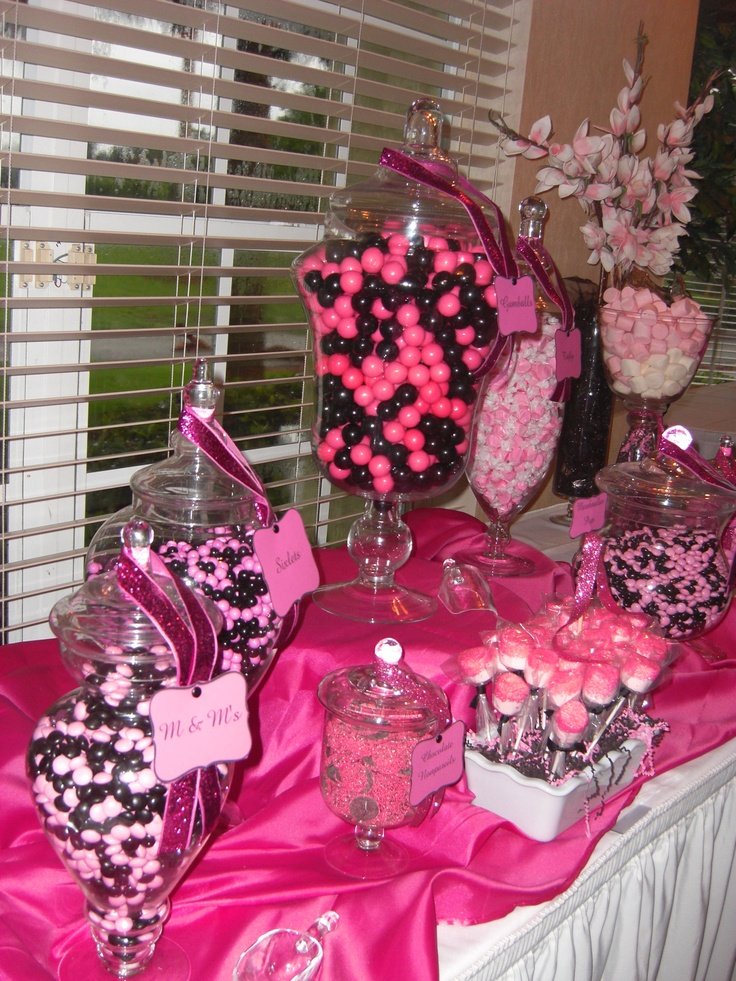 Candy table, not pink