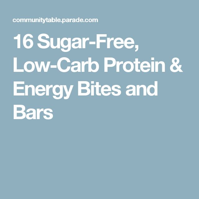 16 Sugar-Free, Low-Carb Protein & Energy Bites and Bars