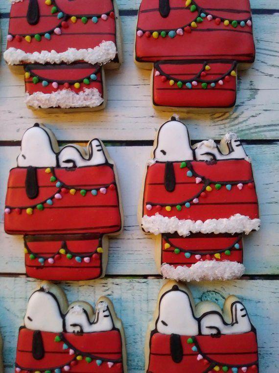 12 Christmas Snoopy Sugar Cookies In 2019 Fine Cooking Sugar