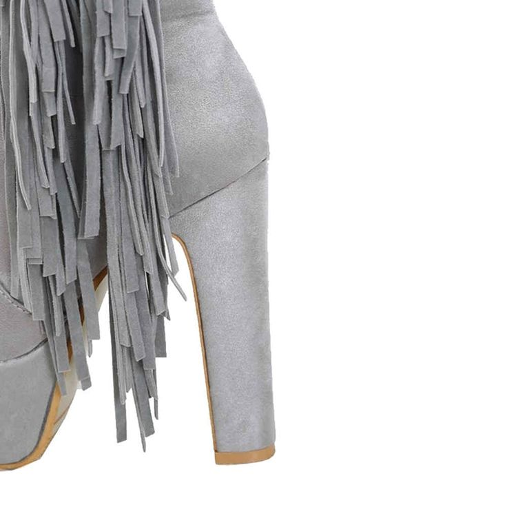 Onewus Women Long Knee-High Boots with Tassels and High Heel Boots with Plus Size and 4-colors Available * Learn more by visiting the image link. #shoelover