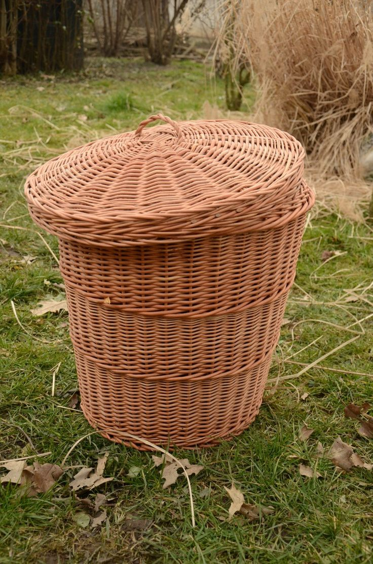 Wicker Laundry Basket, Handmade Willow Laundry Basket with Lid, Handwoven Wicker  Hamper with Lid,  Wicker Laundry Hamper, Storage Basket by WillowSouvenir on Etsy https://www.etsy.com/listing/224470907/wicker-laundry-basket-handmade-willow