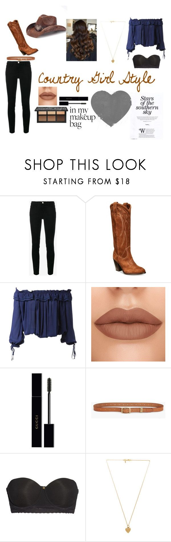 """""""Country Girl Style"""" by hailey-2005 on Polyvore featuring Frame, Frye, Dsquared2, Gucci, Lucky Brand, Natori, Vanessa Mooney, Peter Grimm and country"""