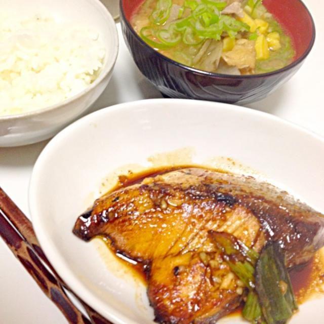 秋ですな(o^^o) - 6件のもぐもぐ - ブリテリ♡豚汁♡ by ikuetty
