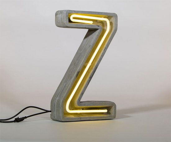 Design spotting: Concrete letter lamps by Seletti « WowHaus