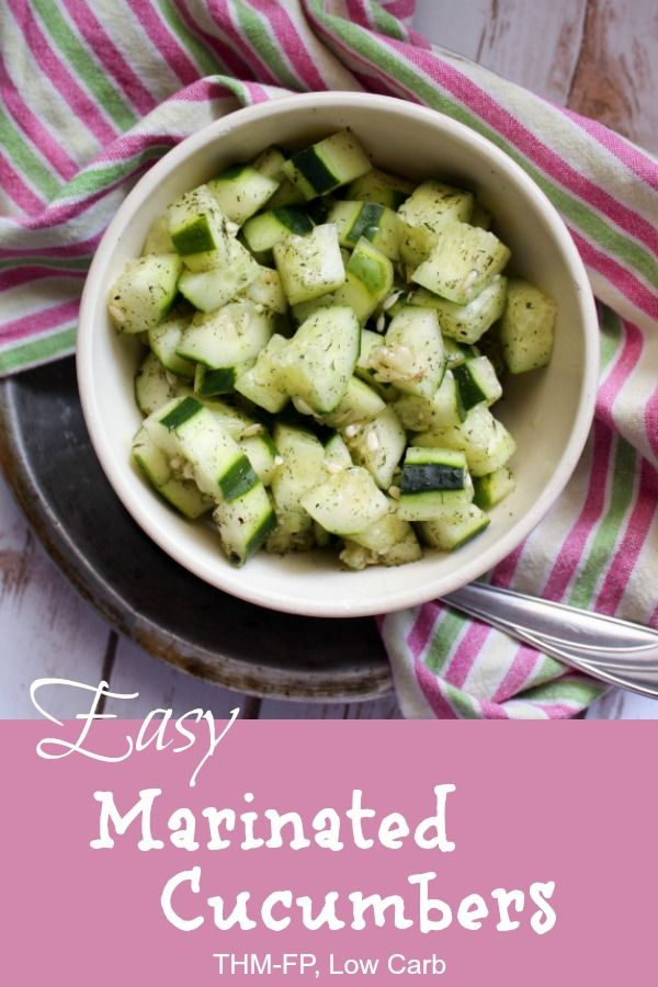 Easy Marinated Cucumbers {THM-FP, Low Carb}