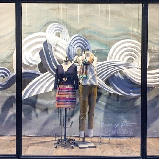 """ANTHROPOLOGIE, Ponce city Market, """"Wind Energy: By 2030, U.S. wind power will save nearly 30 trillion bottles of water!"""", (Happy Earth Day!),  pinned by Ton van der Veer"""