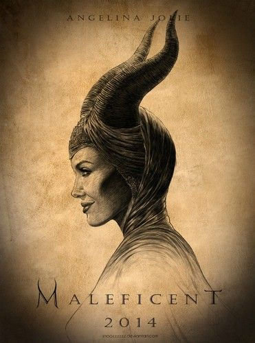 Fan Art of Maleficent fan made poster for fans of Maleficent (2014). Headpiece Horns Drawing