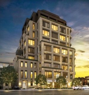 128 Hazelton Avenue, Yorkville, Mink Mile, High-End Condo, traditional mid-rise design with modern lines,