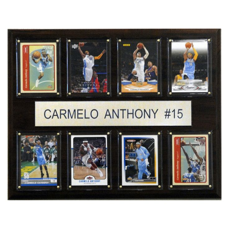 NBA 12 x 15 in. Carmelo Anthony Denver Nuggets 8 Card Plaque - 1215ANTHONY8C