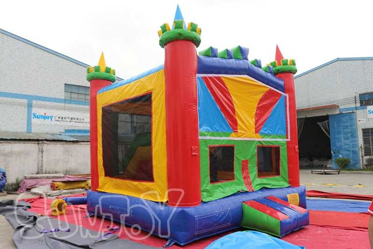 Commercial jumping castle for kids, with inside basketball hoop, climb and slide, nice inflatable playhouse for sale at sunjoy.
