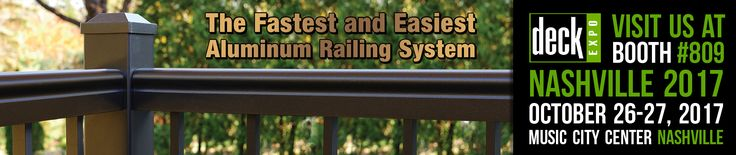 Join Harmony Railing at the 2017 DECK EXPO at booth #809.  Three Events. Two Days. One Location.  Remodeling Show, DeckExpo, and JLC LIVE have co-located to provide residential remodeling and building professionals with a vibrant exhibit hall with hundreds of the industry's top manufacturers, hands-on training and business education through our comprehensive conference program, and networking events and social functions that will help you expand your professional contact base.