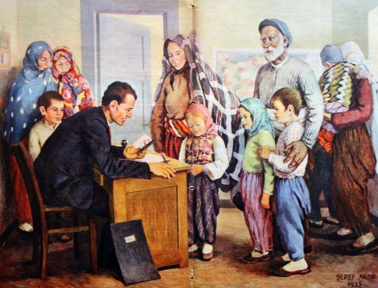 OĞUZ TOPOĞLU : şeref akdik köy mektebinde talebe kaydı tablosu