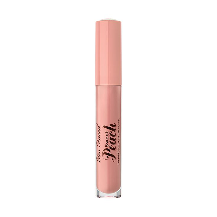 Sweet Peach Creamy Peach Oil Lip Gloss in shade Peach Fuzz - Too Faced Sweet Peach Collection