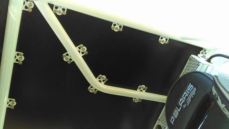 Polaris RZR 1000 Roll cage with Dzus fastened aluminum roof panels.