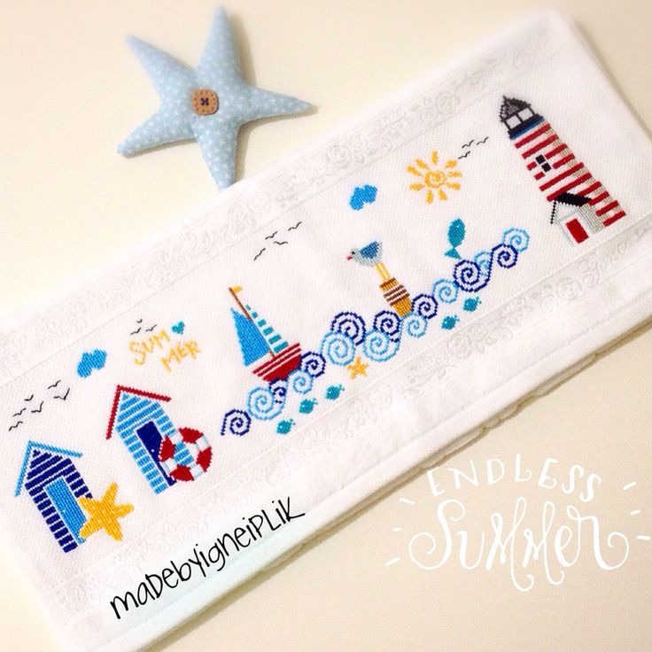 Madebyigneiplik / crossstitch marin towel