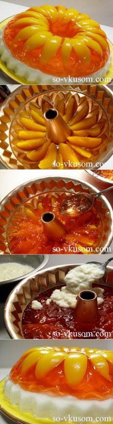 Желейный торт с фруктами | рецепты с фото