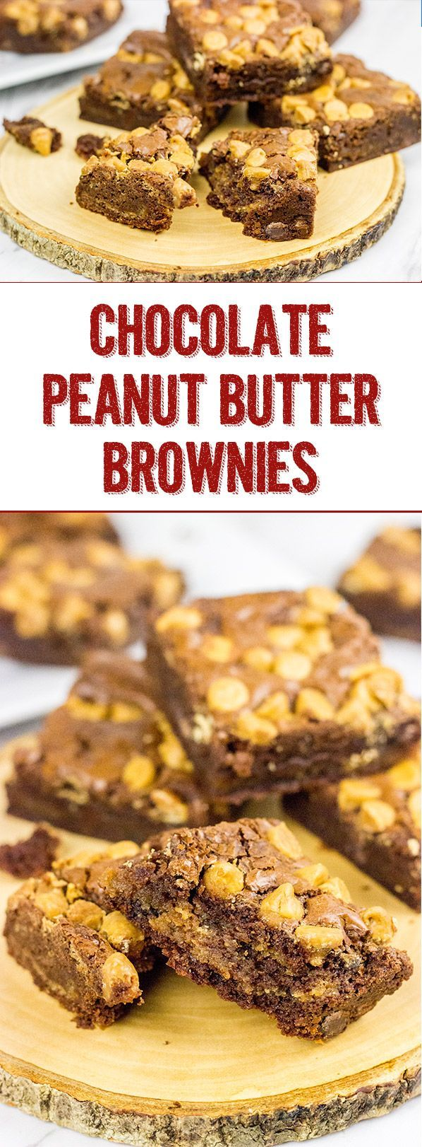 Infused with peanut butter, these Chocolate Peanut Butter Brownies are the perfect sweet treat!