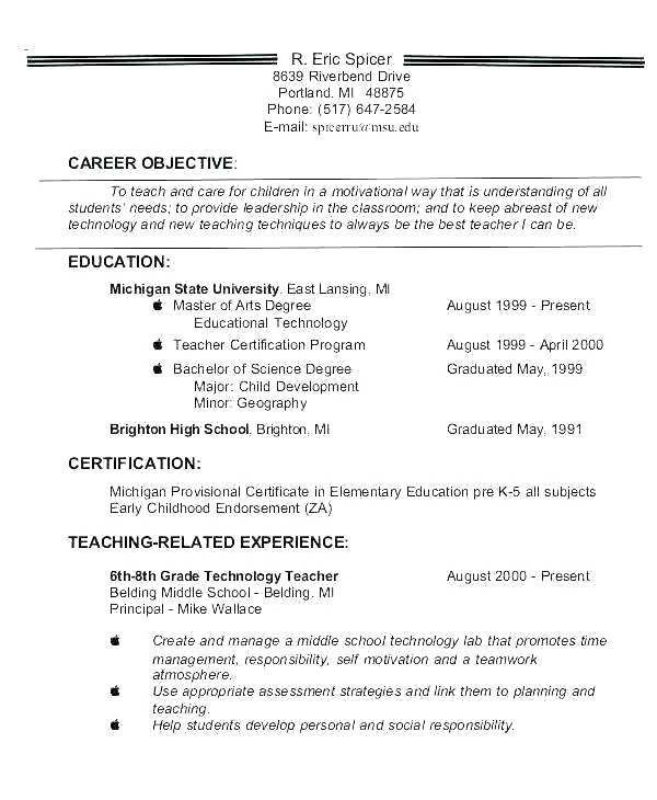 26 Graduate School Resume Objective Statement Examples Cover Letter Templates
