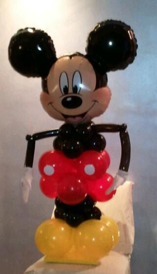 Character Mickey Mouse Balloon Column by BalloonCr8ive on Etsy, $39.50