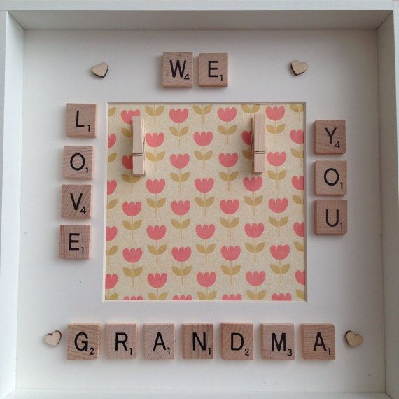 Mothers day mum grandma photo frame with by ButtonNButterflies