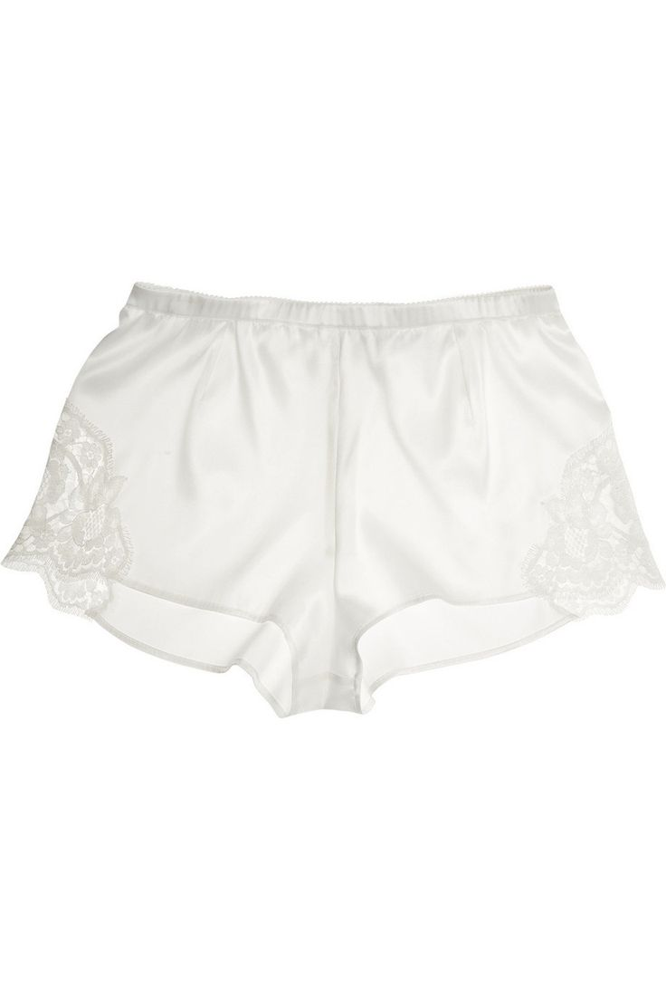 Dolce & Gabana Silk Lace Trim Shorts $435