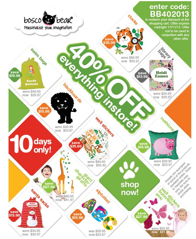 We love Bosco Bear and their wonderful ideas for Children - take a look at their great offer before Christmas