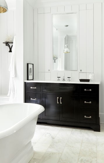 Belle Inspirations: BLACK BATHROOM CABINETRY...
