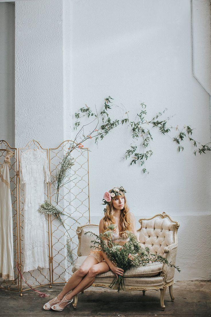bridal boudoir - photo by Hazelwood Photo http://ruffledblog.com/vintage-romance-inspired-boudoir-shoot
