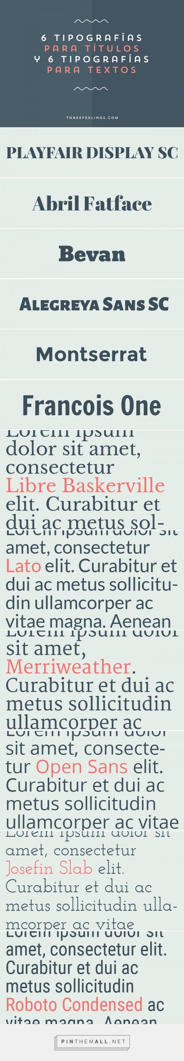 6 Tipografías para títulos y 6 Tipografías para textos                                                                                                                                                      Más