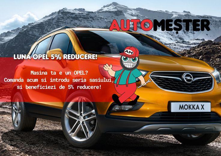 Luna Opel la automester.ro! Reduceri la orice produs auto pentru Opel!