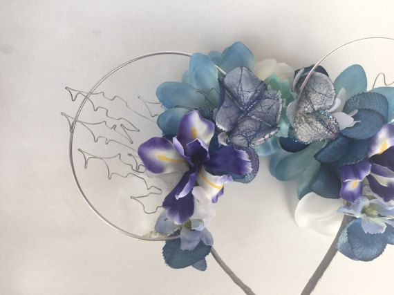 Cinderella wire floral mickey ears by FloralEarsByHana on Etsy