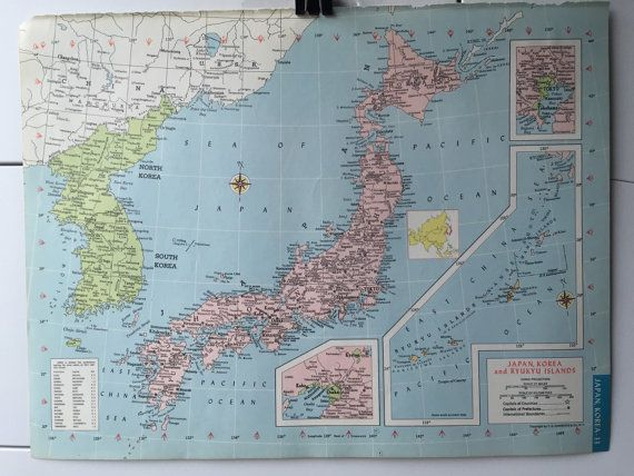 127 best map diy supplies images on pinterest diy supplies the items similar to vintage 1965 hammonds world atlas map page northern africa on one side and japan korea ryukyu islands on the other side on etsy gumiabroncs Gallery