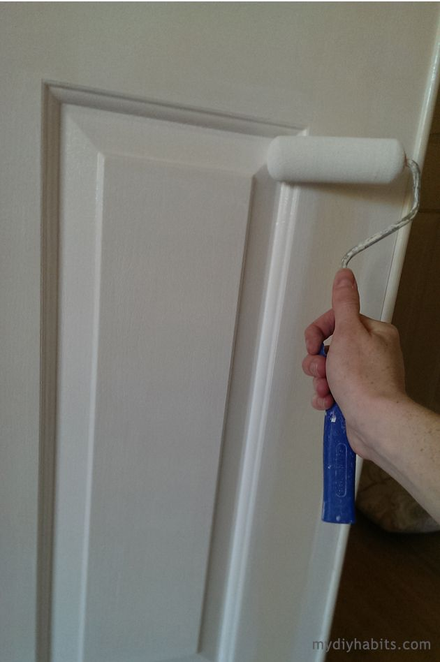 paint - trim and doors galore! First use brush and then use roller to prevent brush strokes- must do before paint dries.