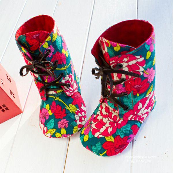 Adler Baby Combat Boots PDF Pattern