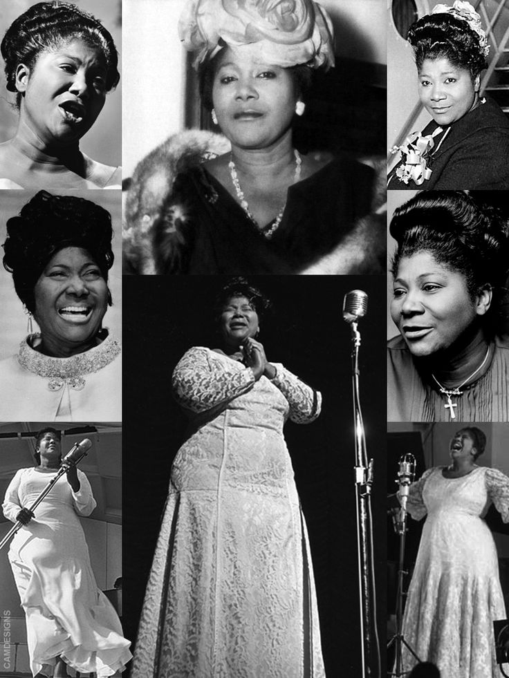 """Mahalia Jackson (Oct. 26, 1911 – Jan. 27, 1972) was an American gospel singer. Possessing a powerful contralto voice, she was referred to as """"The Queen of Gospel"""". Jackson became one of the most influential gospel singers in the world and was heralded internationally as a singer & civil rights activist. She was described by en tertainer Harry Belafonte as """"the single most powerful black woman in the United States"""". She recorded 30 albums, and her 45 rpm records included 12 Gold…"""