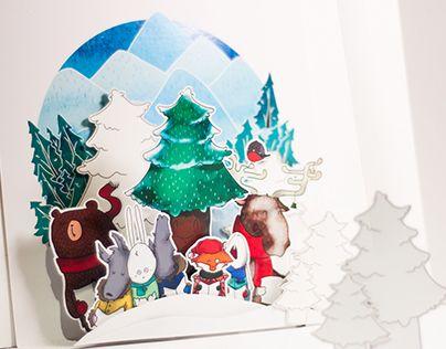 Forest Christmas Choir Pop-up