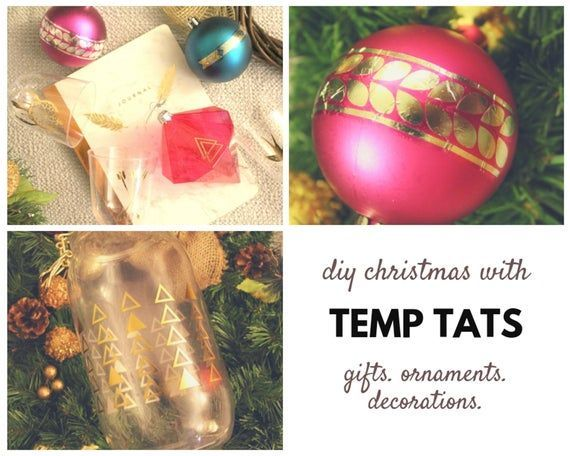 Temporary Tattoos Christmas Gifts Stocking Stuffers for Kids & Adults | 75+ Metallic Color De…