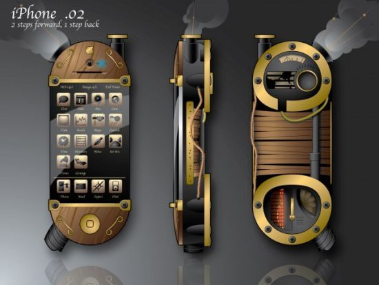 Retro Concept: The iPhone Goes Steampunk at the iLounge