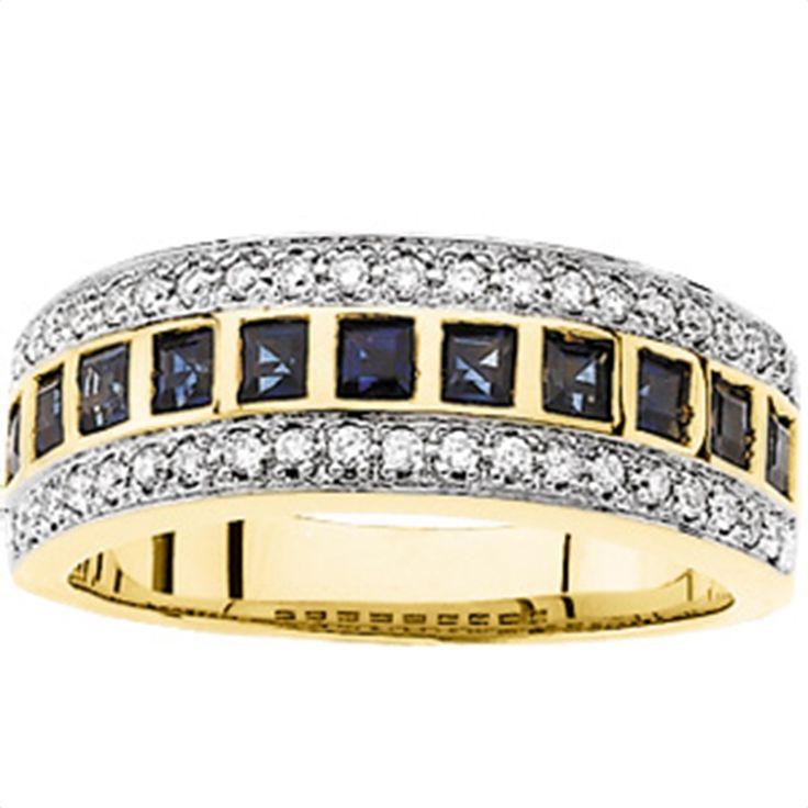 1/5 tdw Sapphire & Diamond Anniversary Band Matthew Erikson Jewelers