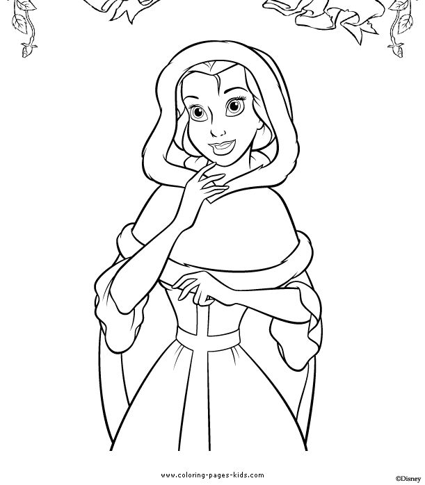 31 best coloring pages 8 beauty and the beast images on