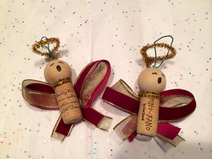 Caroling angel wine cork ornament *FREE shipping* by UncorkHappiness on Etsy https://www.etsy.com/listing/215402866/caroling-angel-wine-cork-ornament-free