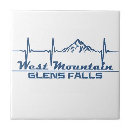 West Mountain  -  Glens Falls - New York Tile - fall decor diy customize special cyo