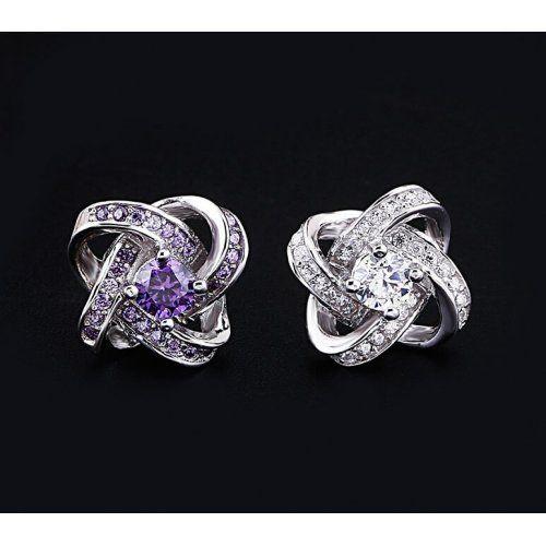 Végtelen alakú ázsiai fülbevaló 925 ezüst