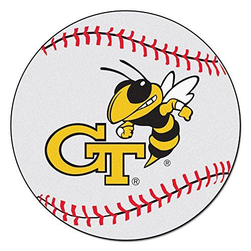 Fanmats Georgia Tech Yellow Jackets Nylon Rug  http://allstarsportsfan.com/product/fanmats-georgia-tech-yellow-jackets-nylon-rug/?attribute_pa_style=baseball-mat  9 Ounce, 100 % Nylon Face Recycled vinyl backing for a durable and longer-lasting product Machine made and tufted in the USA