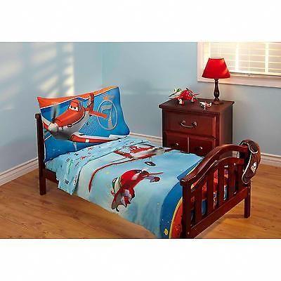 toddler bedding set 3pc planes comforter sheets pillowcase own sky bed kids boys
