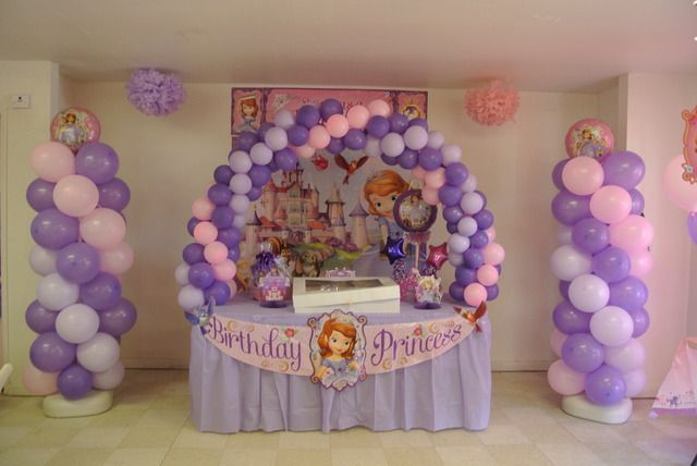Sofia the First Birthday Party Ideas - balloons galore!